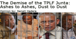The Demise of the TPLF Junta: Ashes to Ashes, Dust to Dust